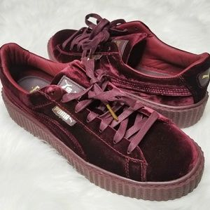 HP Puma Fenty Rihanna Velvet Platform Creeper Shoe